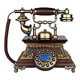 Art Wählscheibetelefon der Weinleseart der Weinlese im Jahre 1960, klassisches verdrahtetes Telefon der Weinlese örtlich festgelegte Ausgangs- und Bürodekoration (größe : A, Stil : Button Dialing)