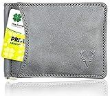Allen Solly Men's Money Clip Leather Bi-Fold Slim Wallet with Card Holder