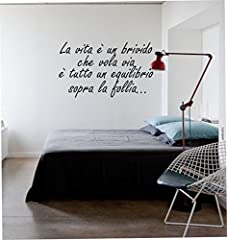 Idea Regalo - wall stickers Adesivo murale frase