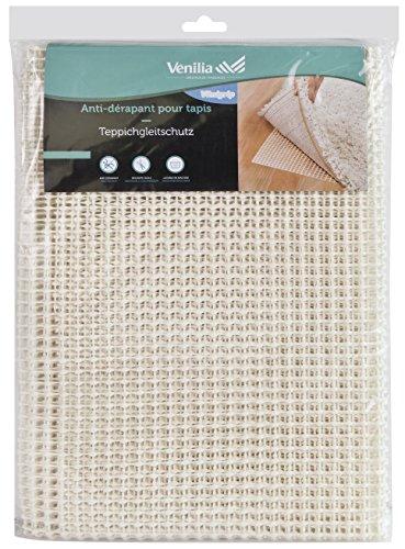 Venilia Teppichgleitschutz Venigrip Antirutschmatte für Teppich Bodenschoner Teppichunterlage rutschfest zuschneidbar, PVC-Polyester, Weiß, 80 x 150 cm, 54169