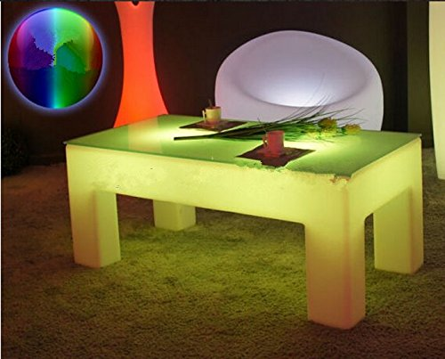 Gowe rectangle lumineux Table basse Table de lumière LED étanche Meuble de salon de luxe Hôtel/KTV/salon/bar Tables
