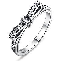 Presentski 925 Steriling anello di Bowknot d'argento con l'Austria Cubic Zirconia per Lover