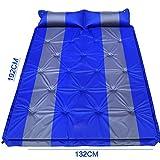 GYP Outdoor-Camping SUV gemeinsamen Auto-Bett automatisch aufblasbaren Kissen Car Bed aufblasbaren Bett Auto-Schock Bett Reisen Bett Air Bed ( Farbe : Blau , größe : 192*132*2.5CM )