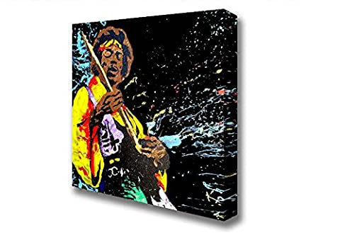 Square Jimi Hendrix Colours Canvas Art Prints - Extra Large 40 x 40 inches