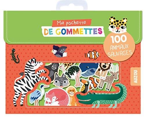Ma pochette de gommettes - 100 animaux sauvages par Michelle Carlslund
