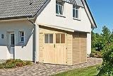 Karibu Gartenhaus BOMLITZ 2 natur Gerätehaus 181x181cm 19mm