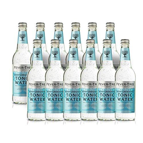 Fever Tree Mediterranean Tonic Water 0,5 Liter Flaschen, 12er Pack (12 x 500 ml) (Dosen Tonic Water)