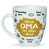 Sheepworld 45135 Tasse mit Spruch Ohne Oma ist alles doof, Porzellan, Geschenk...