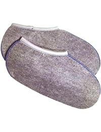 2 Paar Stiefelsocken - Deutsche Ware ! sogenannte Roßhaarsocken für Damen Herren und Kinder Größe 39-40 Farbe grau