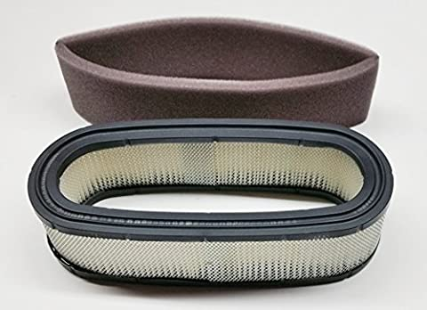 Replacement Air Filter For Briggs & Stratton 394019S, 394019, 398825; Includes PreFilter 272490S