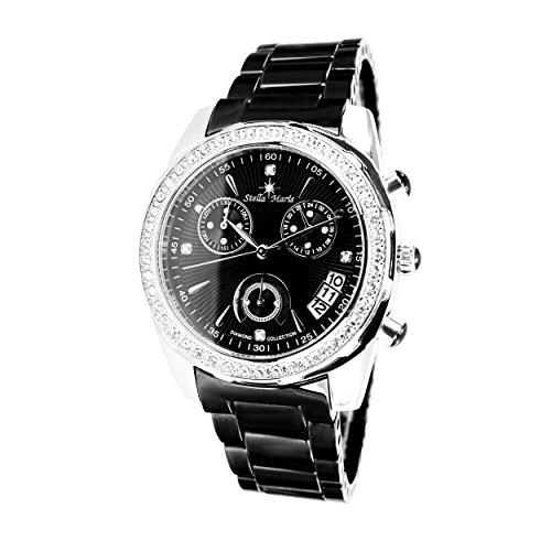 Stella Maris - STM15L4 - wrist watch for women - quartz movement analog display - black dial - black ceramic bracelet