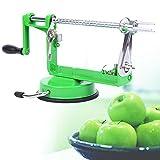 XuanYue Apfelschäler 3 in1 Apfelentkerner Apfelschälmaschine Machine Obstschäler Slicer für Obst Gemüse (Grün)