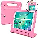 Samsung Galaxy Tab S2 9.7 Hülle, [2-in-1 Griffige Tragehülle & Stand] COOPER DYNAMO Robuste Strapazierfähige Sturz- und Kindersichere Hülle + Stand & Displayschutz -Jungs Mädchen Erwachsene Ältere Pink