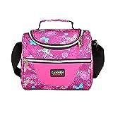 NIBESSER 1pc Sac à Déjeuner en Toile Tote Bento Portable Isotherme Lunch Bag Thermique pour Enfants Pique-Nique (Rose)
