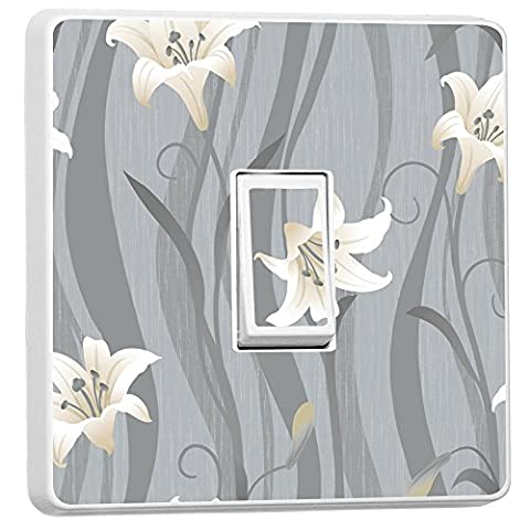 Roses Single Light Switch Cover Vinyl Sticker Home Decoration