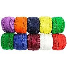 475 yardas de colorido hilo de algodón para Crochet, manualidad, hilo, bollo por Kurtzy TM