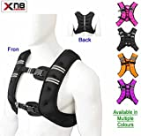 Weighted Vest 10Kg Weight Loss Training Running Adjustable Jacket Removable Weight Crossfit Weight Loss Body Workout Exercise (Black)