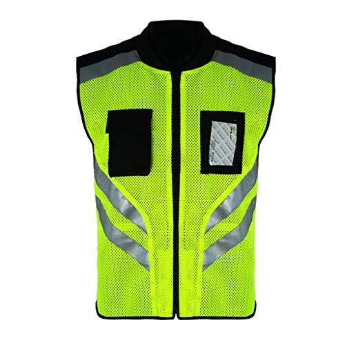 FGYBFQY FH Reflektierende Fahrradbekleidung, Mesh-atmungsaktive Outdoor-Sicherheitsjacke, Warnweste Mit Hoher Sichtbarkeit