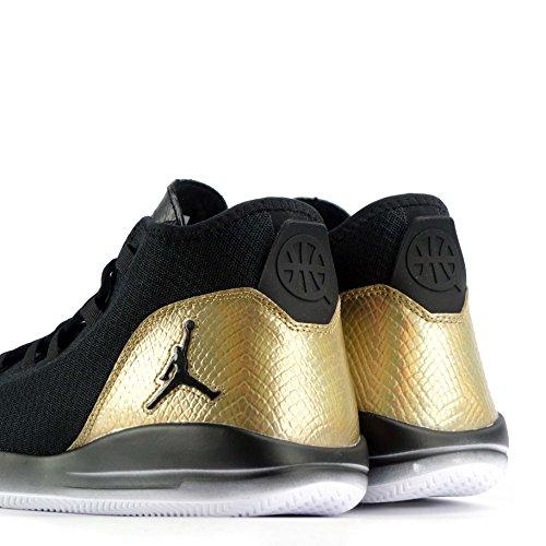 Nike 866037-001, Chaussures de Sport Homme Noir (Noir / Blanc-Metallic Gold)