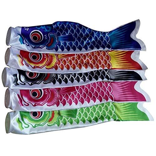 JWR 5 Teile/Satz Japanischen Karpfen Windsock Streamer Fisch Flagge Kite 20-300 cm Home Outdoors Hängende Dekoration 5 Farben,55cm - Flagge Streamer