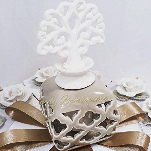 Bomboniere solidali porcellana confezionati a forma di torta (centrale confezionato a parte)