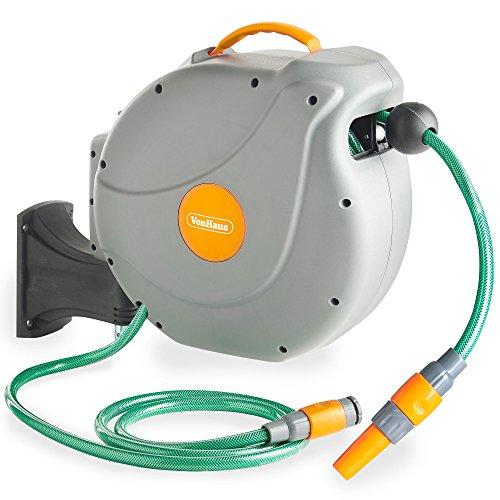 vonhaus-20m-garden-hose-auto-rewind-wall-mounted-reel