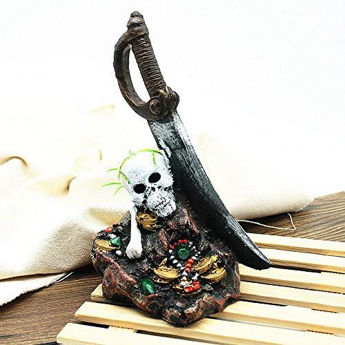 Kostüm Fisch Laterne - Tragbare Halloween Requisiten Halloween Decor Harz Schädel Anhänger Spielzeug für Haus Bar Home Garden Party Indoor Urlaub