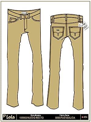 LOIS - Pantalon Nuevo Recto Fuensalida, Hombre, Color Marron, Talla 42