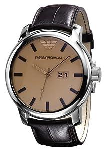 Emporio Armani 0 - Reloj para hombres, correa de cuero de Emporio Armani