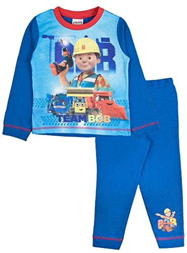 Bob The Builder Jungen Schlafanzug blau blau Gr. 92, Bob The Builder - Team Bob (Disney Princess Christmas Pyjamas)
