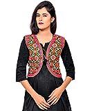 #9: Banjara Women's Cotton Blend Kutchi Embroidered Jacket/Koti (SSP-RJW01 - Black)