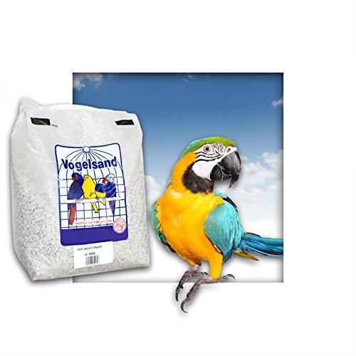 5 kg Papageiensand Vogelsand mit Kalk und Anis ( grob / naturweiss )