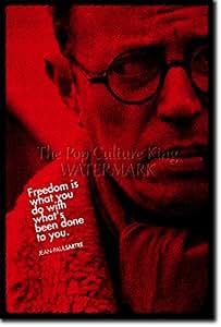 Jean Paul Sartre Poster Photo Oeuvre Imprimée Unique Cadeau 30x20 cm affiche