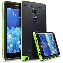 URCOVER® Armor Case Neo Hybrid | Samsung Galaxy Note Edge | Carcasa Antigolpes TPU + Bumper Silicona en Verde | Funda Antichoque Resistente Protectora