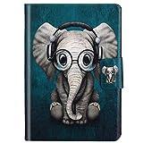Felfy Kompatibel mit Hülle iPad Mini/Mini 2 / Mini 3 Case Leder Schön Elefant Muster Flip PU Leder Hülle Smart Cover Leder Tasche SchutzHülle mit Automatischem Schlaf Funktion und Standfunktion
