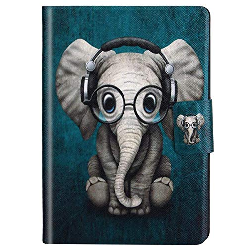 Felfy Kompatibel mit Hülle Amazon Kindle Paperwhite 2015 2014 2013 2012 Case Leder Schön Elefant Muster Flip Cover Case Tasche PU Leder Smart Cover Tasche SchutzHülle mit Automatischem Schlaf (Hülle Muster Kindle)