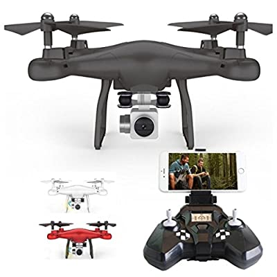 Sixcup 2.4G Altitude Hold HD Camera Quadcopter RC Drone WiFi FPV Live Helicopter Hover Helicopters Aircraft Remote & App-Controlled Devices Flying Toys from Sixcup