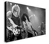 FAB Guns N 'Roses–Leinwand Wand Art, gerahmt, Verschiedene Größen, Schwarz/Weiß, A1 32x24 inches