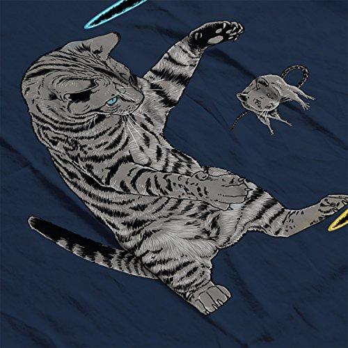 Portal Cat Get That Mouse Men's Vest Navy Blue