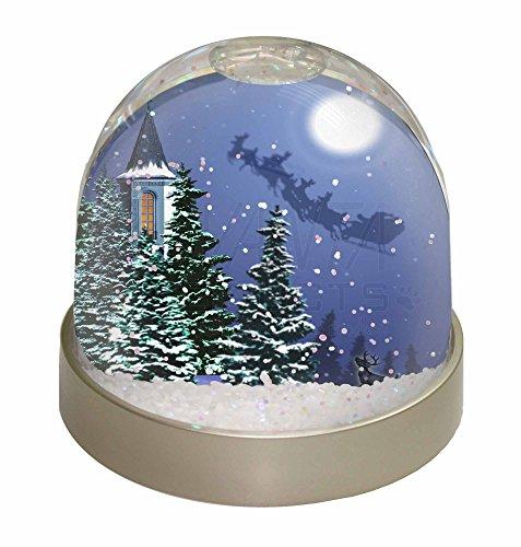 , Motiv Heiligabend / Weihnachtsmann auf Schlitten, Weihnachtsgeschenk (Santa Sleigh Silhouette)