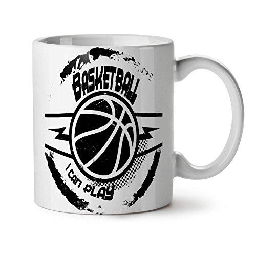 Wellcoda Basketball Spiel Sport Keramiktasse, Beste - 11 oz Tasse - Großer, Easy-Grip-Griff, Zwei-seitiger Druck, Ideal für Kaffee- und Teetrinker