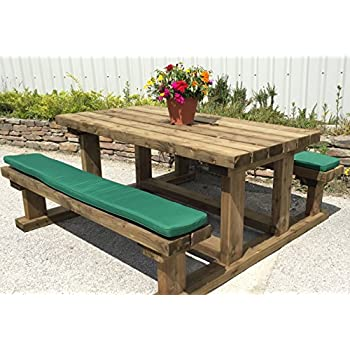 Pack Of Two Picnic Bench Seat Cushions Natural 180cm