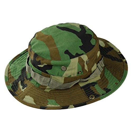 INFANTRY Camouflage Boonie CAMO UNISEX Hut Hat Buschut Schlapphut mit Kinnband Outdoor Armee Army Jagd Tropenhut