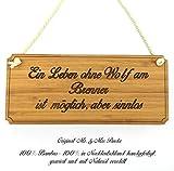 Mr. & Mrs. Panda Türschild Stadt Wolf am Brenner Classic Schild - Gravur,Graviert Türschild,Tür Schild,Schild, Fan, Fanartikel, Souvenir, Andenken, Fanclub, Stadt, Mitbringsel