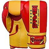 Farabi Guantes de boxeo para niños Junior bandera serie formación bolsa bolsas de almohadillas de entrenamiento de boxeo sparring Super calidad Bandera serie (España, 6-oz)