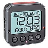 TFA Dostmann Bingo 2.0 digitaler Funk-Wecker, 60.2550.01, hohe Genauigkeit, Funkuhr, Temperaturanzeige, Datum