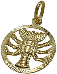 Pendant 431066 - Jesus Fish Christian Symbol 8ct Gold lkJq63Wh6