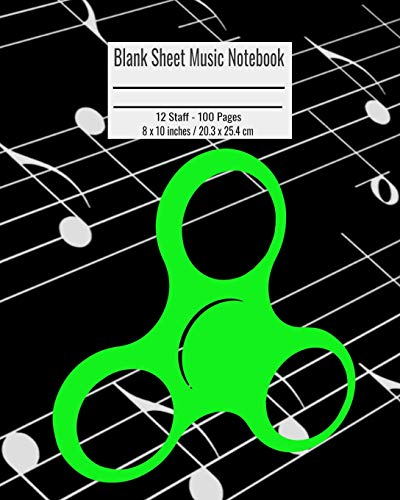 Blank Sheet Music Notebook: 100 Pages 12 Staff Music Manuscript Paper Colorful Cane Corso Dog Cover 8 x 10 inches / 20.3 x 25.4 cm Corso Cover