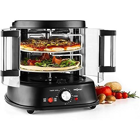 oneConcept Pizzaparty Fornetto Elettrico Per Pizza Grill