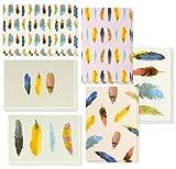 Best Geschenkpapier Grüße 48Stück alle Anlass sortiert blanko Note cards Grußkarte Bulk Box Set-Colorful Watercolor Feder Designs-Aufstellkarten mit Umschläge enthalten 10,2x 15,2cm